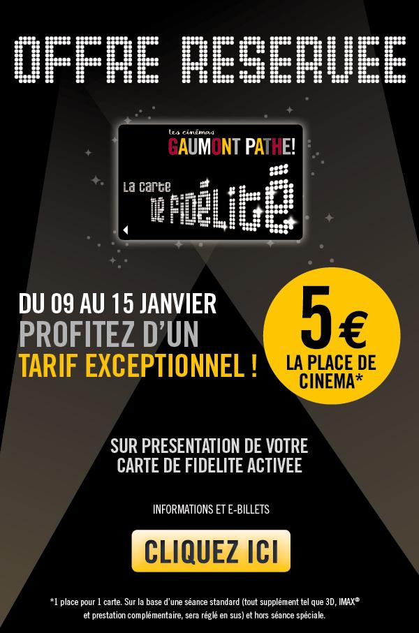 Bon plan la place de cin 5 euros chez gaumont path - Carte fidelite gaumont ...